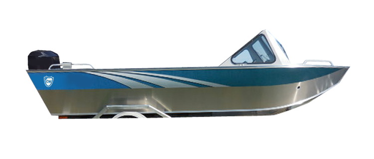 Aluminum/Northwest Style Fishing Boat w/ High Windshield Mounted Forward - Extra Wide Series Aluminum Boat Covers | Custom Sunbrella® Aluminum Covers | Cover World