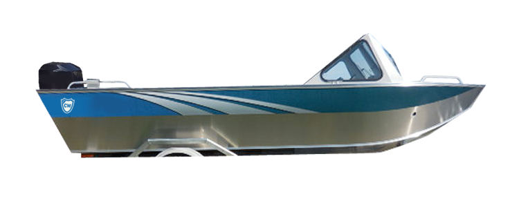Aluminum/Northwest Style Fishing Boat w/ High Windshield Mounted Forward Aluminum Boat Covers | Custom Sunbrella® Aluminum Covers | Cover World