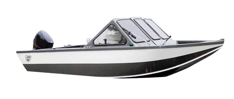 Aluminum V-hull Fishing Boat with Walk-Thru Windshields - Narrow Series Aluminum Boat Covers