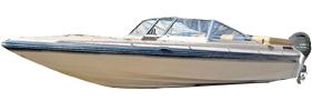 Sunsport 184 Outboard Baja Bimini Tops | Custom Sunbrella® Baja Covers | Cover World