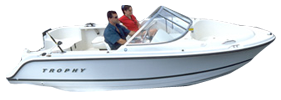 1700 Trophy Dual Console Outboard Bayliner Boat Covers | Custom Sunbrella® Bayliner Covers | Cover World
