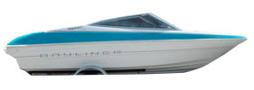 1800 Capri DX Outboard Bayliner Boat Covers | Custom Sunbrella® Bayliner Covers | Cover World