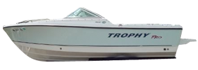 1806 Trophy Dual Console Outboard Bayliner Boat Covers | Custom Sunbrella® Bayliner Covers | Cover World