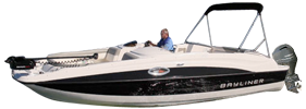 210 Deck Boat Outboard Bayliner Boat Covers | Custom Sunbrella® Bayliner Covers | Cover World