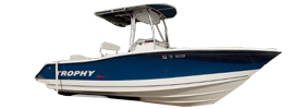 2203 Trophy Center Console Outboard Bayliner Boat Covers | Custom Sunbrella® Bayliner Covers | Cover World