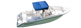 2206 Trophy Dual Console Outboard Bayliner Boat Covers | Custom Sunbrella® Bayliner Covers | Cover World