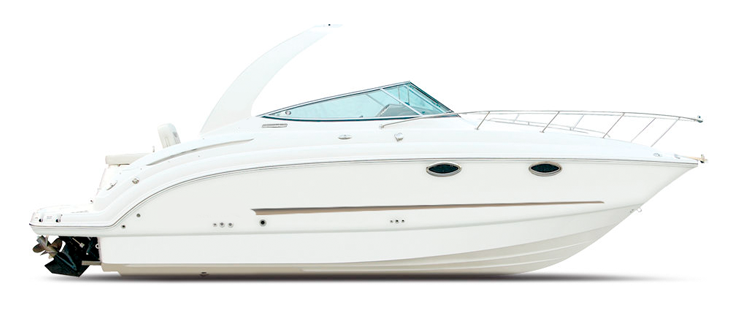 High Profile Cabin Cruiser with Radar Arch Cabin Cruiser Boat Covers