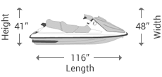 1-2 Seater Jet Ski Covers