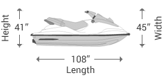 Stand-up / 1 Seater Jet Ski Covers