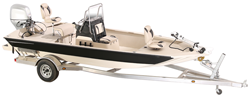 Modified V Jon Boat with High Center Console - Extra Wide Series Center Console Boat Covers | Custom Sunbrella® Center Console Covers | Cover World