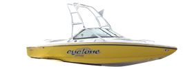 Cyclone Eclipse V-Drive Centurion Boat Covers | Custom Sunbrella® Centurion Covers | Cover World