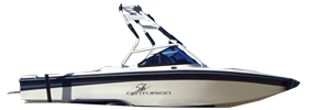 Sport BR Sterndrive Centurion Boat Covers | Custom Sunbrella® Centurion Covers | Cover World