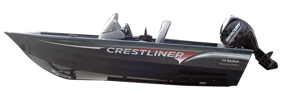 14 Kodiak SC Outboard Crestliner Bimini Tops | Custom Sunbrella® Crestliner Covers | Cover World