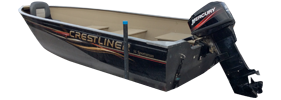 14 Sportsman DLX Outboard Crestliner Boat Covers | Custom Sunbrella® Crestliner Covers | Cover World
