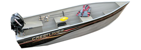 14 Sportsman SS Outboard Crestliner Boat Covers | Custom Sunbrella® Crestliner Covers | Cover World