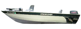 16 Fish Hawk Tiller Outboard Crestliner Bimini Tops | Custom Sunbrella® Crestliner Covers | Cover World