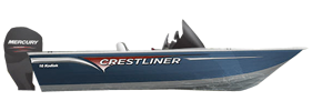 16 Kodiak SC Outboard Crestliner Bimini Tops | Custom Sunbrella® Crestliner Covers | Cover World
