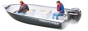 16 Sportsman SC Outboard Crestliner Boat Covers | Custom Sunbrella® Crestliner Covers | Cover World