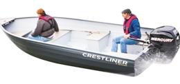 16 Sportsman SS Outboard Crestliner Boat Covers | Custom Sunbrella® Crestliner Covers | Cover World