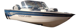 16 Super Hawk Outboard Crestliner Bimini Tops | Custom Sunbrella® Crestliner Covers | Cover World