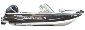 1600 Super Hawk Outboard Crestliner Bimini Tops | Custom Sunbrella® Crestliner Covers | Cover World