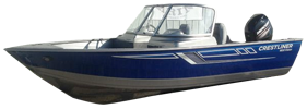 1600 Vision WT Outboard Crestliner Boat Covers | Custom Sunbrella® Crestliner Covers | Cover World