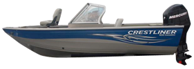 1650 Canadian Outboard Crestliner Bimini Tops | Custom Sunbrella® Crestliner Covers | Cover World
