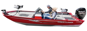 17 Storm Outboard Crestliner Boat Covers | Custom Sunbrella® Crestliner Covers | Cover World