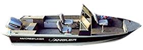 170 Crusader Angler DLX Outboard Crestliner Boat Covers | Custom Sunbrella® Crestliner Covers | Cover World