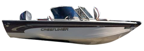 1700 Super Hawk Outboard Crestliner Bimini Tops | Custom Sunbrella® Crestliner Covers | Cover World