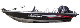 1750 Fish Hawk DC Outboard Crestliner Bimini Tops | Custom Sunbrella® Crestliner Covers | Cover World