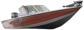1750 Fish Hawk SC Outboard Crestliner Bimini Tops | Custom Sunbrella® Crestliner Covers | Cover World