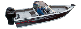 1750 Fish Hawk Tiller Outboard Crestliner Bimini Tops | Custom Sunbrella® Crestliner Covers | Cover World