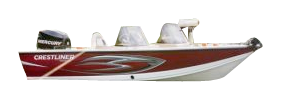 1750 Raptor DC Outboard Crestliner Bimini Tops | Custom Sunbrella® Crestliner Covers | Cover World