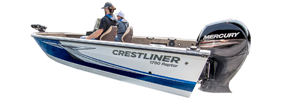 1750 Raptor SC Outboard Crestliner Bimini Tops | Custom Sunbrella® Crestliner Covers | Cover World