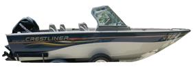 1750 Sport Angler Outboard Crestliner Boat Covers | Custom Sunbrella® Crestliner Covers | Cover World