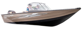 1750 Super Hawk Outboard Crestliner Bimini Tops | Custom Sunbrella® Crestliner Covers | Cover World