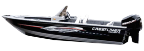 1750te Raptor SC Outboard Crestliner Boat Covers | Custom Sunbrella® Crestliner Covers | Cover World