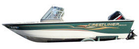 1800 Serenity Outboard Crestliner Boat Covers