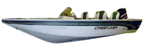 182 Tournament SC Outboard Crestliner Bimini Tops | Custom Sunbrella® Crestliner Covers | Cover World