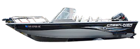 1850 Canadian Outboard Crestliner Bimini Tops | Custom Sunbrella® Crestliner Covers | Cover World