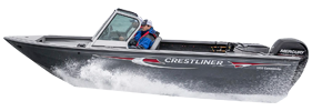 1850 Commander Outboard Crestliner Bimini Tops | Custom Sunbrella® Crestliner Covers | Cover World