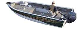 1850 Fish Hawk Tiller Outboard Crestliner Bimini Tops | Custom Sunbrella® Crestliner Covers | Cover World