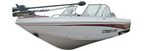 1900 Phantom Outboard Crestliner Bimini Tops | Custom Sunbrella® Crestliner Covers | Cover World