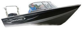 1900 Super Hawk Outboard Crestliner Bimini Tops | Custom Sunbrella® Crestliner Covers | Cover World