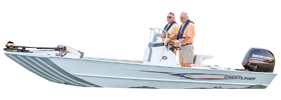 2000 Coast Outboard Crestliner Bimini Tops | Custom Sunbrella® Crestliner Covers | Cover World