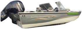 202 Tournament Rcl Outboard Crestliner Bimini Tops | Custom Sunbrella® Crestliner Covers | Cover World