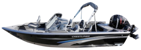 2050 Authority Outboard Crestliner Bimini Tops | Custom Sunbrella® Crestliner Covers | Cover World
