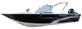 2250 Authority Outboard Crestliner Bimini Tops | Custom Sunbrella® Crestliner Covers | Cover World