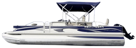 2385 Grand Cayman Angler 4-Point Crestliner Bimini Tops | Custom Sunbrella® Crestliner Covers | Cover World
